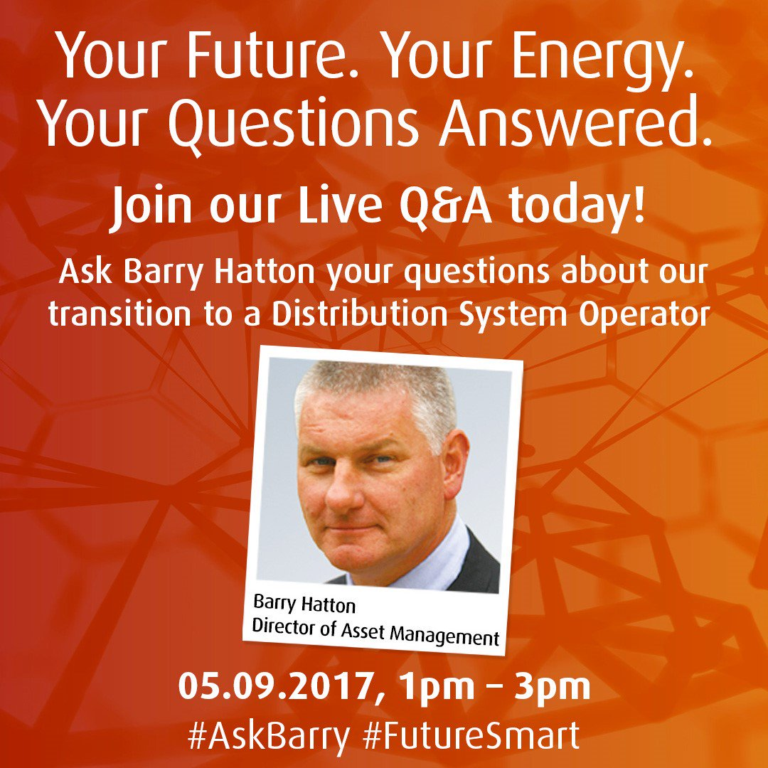 Our Director of Asset Management, Barry Hatton will be answering your questions live on this feed at 1pm. Join us!  #AskBarry #FutureSmart https://t.co/eyY46208W8