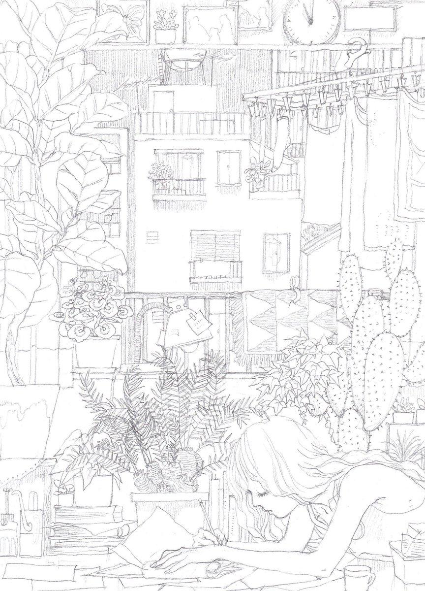ふゆげ On Twitter アパートの見える部屋 イラストの森 イラスト王国