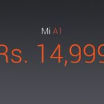 """Xiaomi launches #MiA1 in India with stock Android 5.5"""" 1080p 4GBRAM 64GB SD625 Dual 12+12MP Cam FullMetal Black
