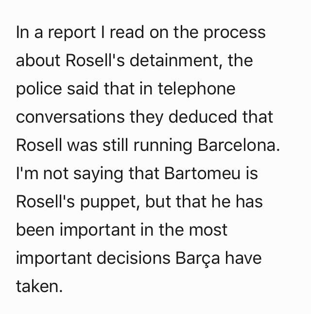"""Vives (Barca spokesperson): """"Those demanding Bartomeu to resign on twitter are not from Catalonia, but from other countries."""" DI8xBHMXUAEEA4z"""