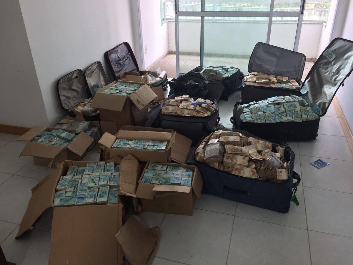 PF encontrou malas de $ em endereço em Salvador que segundo investigações seria usado como 'bunker' para valores por Geddel Vieira Lima.