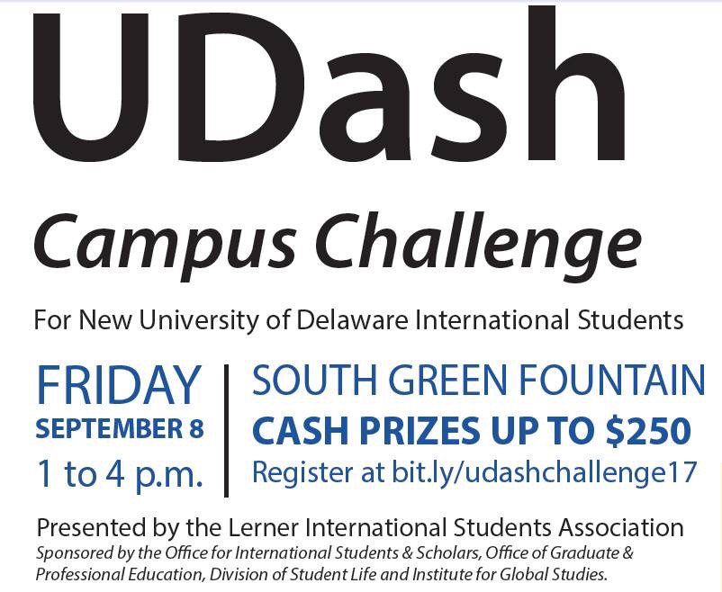 Only in three days! Our #UDash challenge will be held near the fountain of the MorrisLibrary! Runners please be prepared!