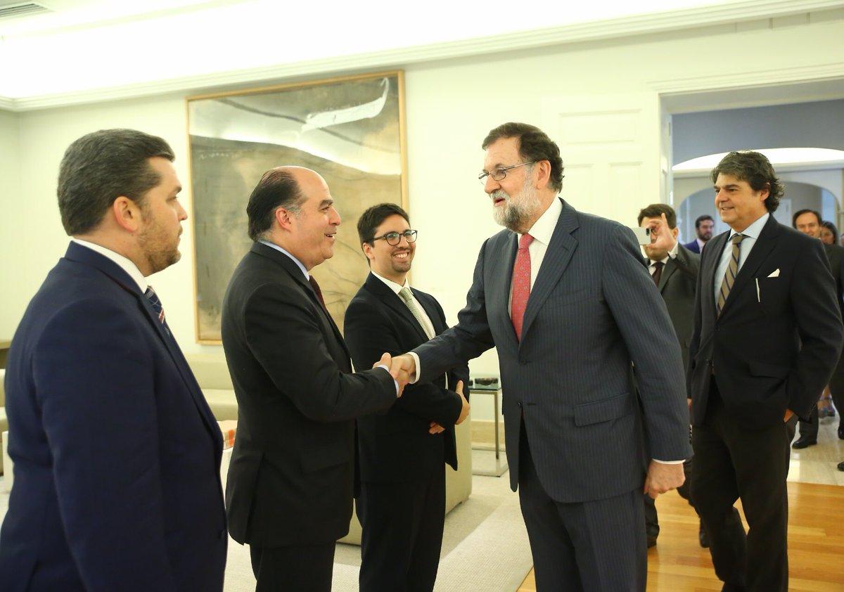 Julio Borges y Freddy Guevara fueron recibidos por el presidente Mariano Rajoy