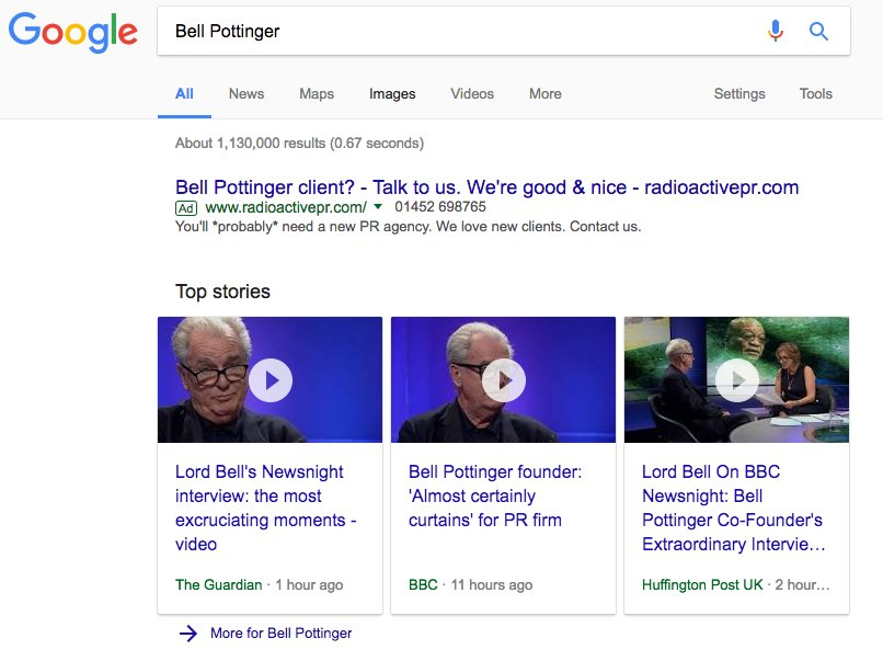 Cheeky Google ad by @radioactive_pr #BellPottinger https://t.co/Tc62g98hQX
