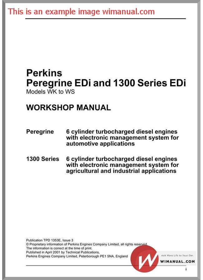 Perkins 1300 Series Manual