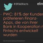 Passend zu #HBBanken – @PwC : 81% d. Kunden präferieren Finanz-Apps, die von ihrer Bank zusammen mit #Fintechs entwickelt wurden #59365facts
