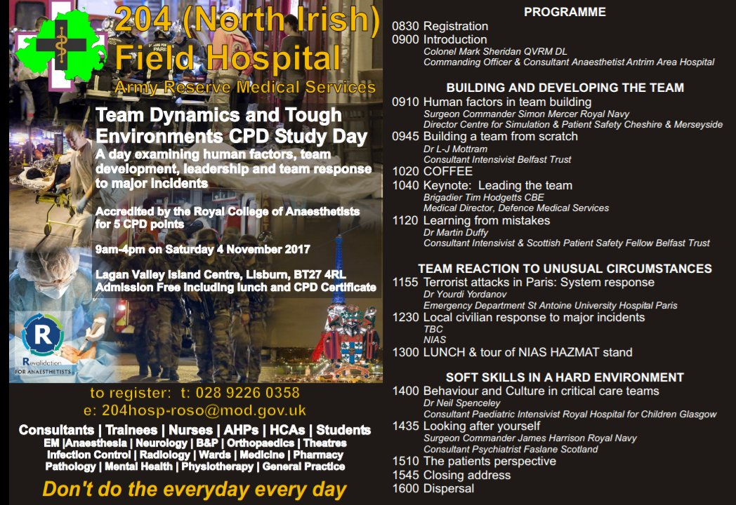 204 Field Hospital On Twitter Check Out The Itinerary For Our Free