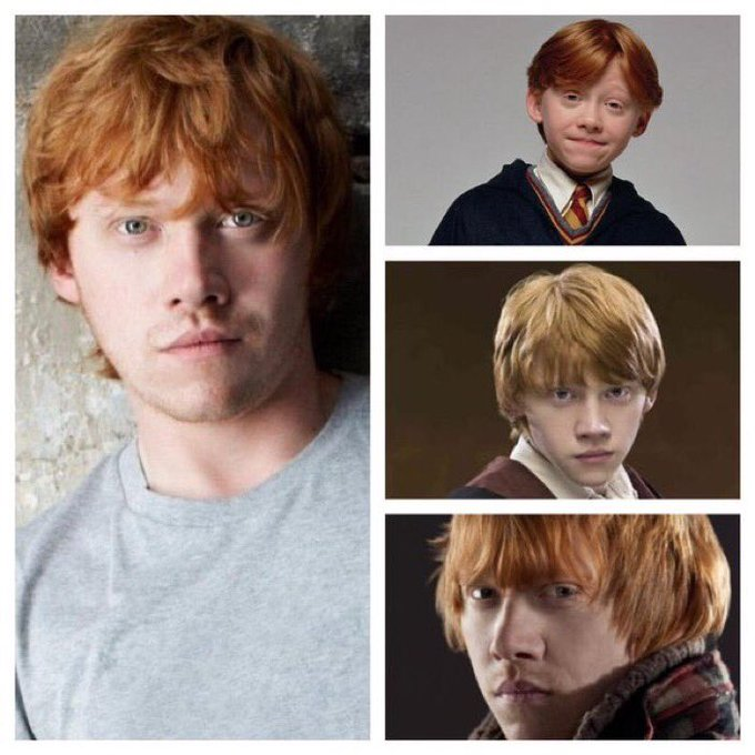 August 24: Happy Birthday, Rupert Grint! He played Ron Weasley in the films.