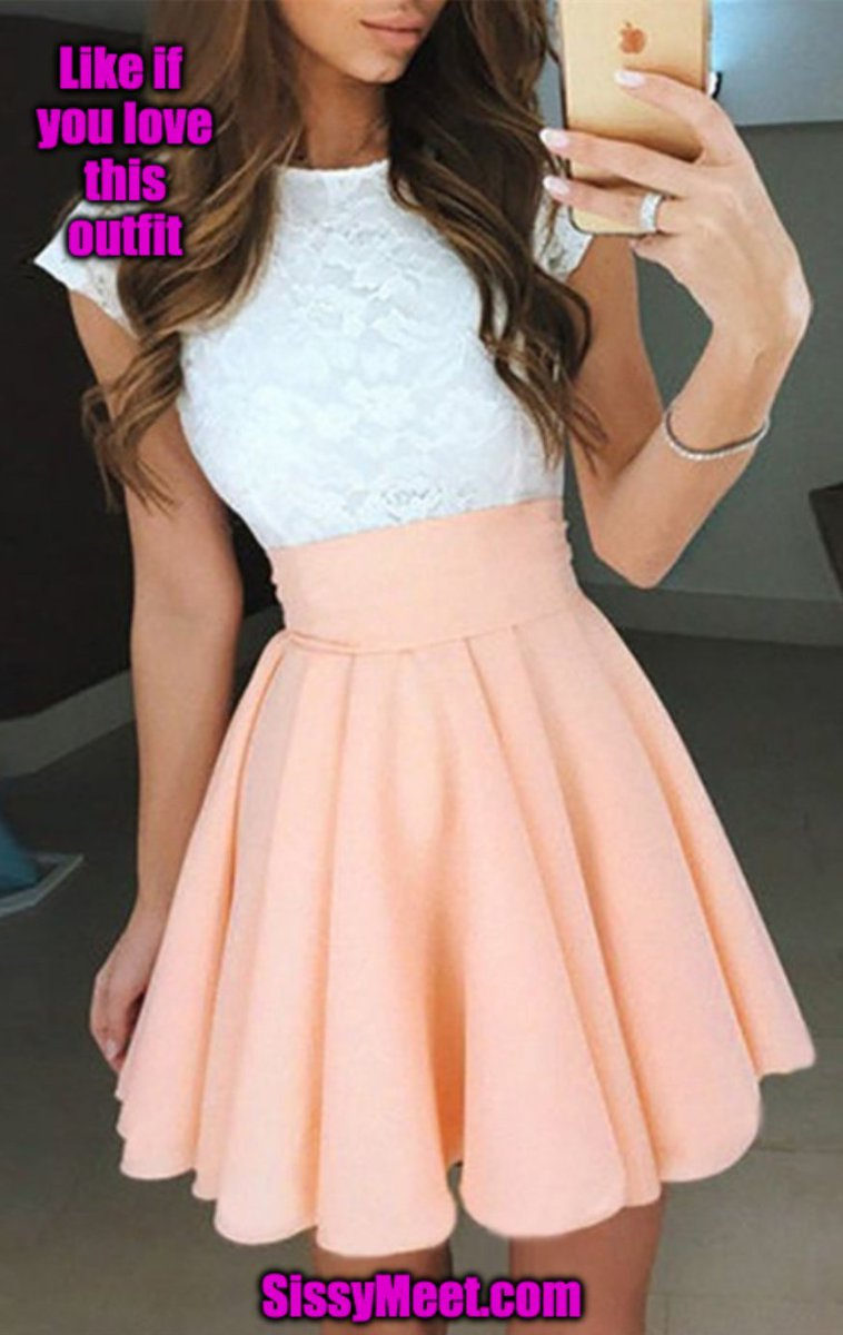Like If You Love This Outfit Date A Sissy Or Mistress On Https T Co J3bih59hvn Sissy Sissycaptions Feminization Https T Co Ombejret4a
