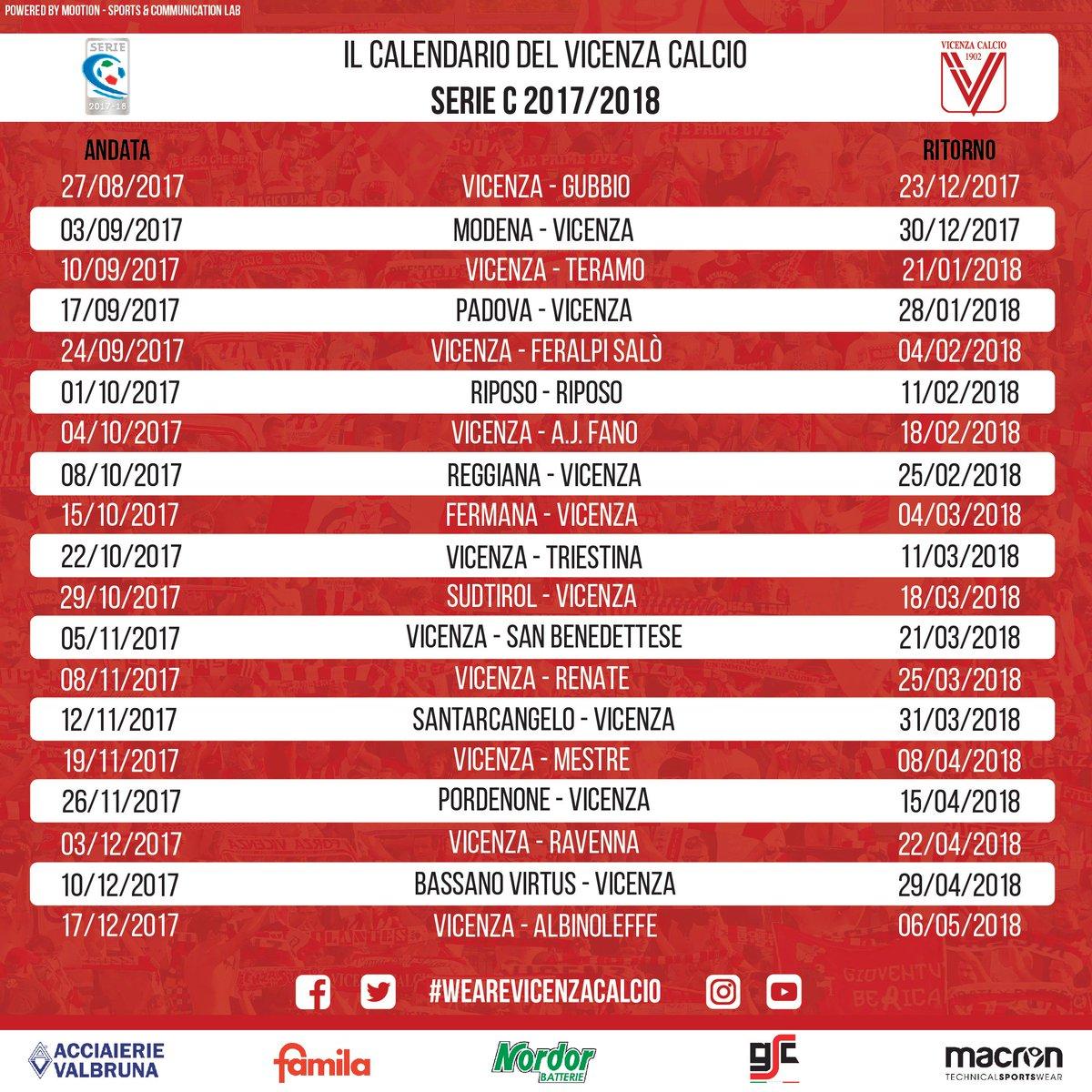 Calendario Vicenza.L R Vicenza Virtus On Twitter Il Calendario Di Seriec