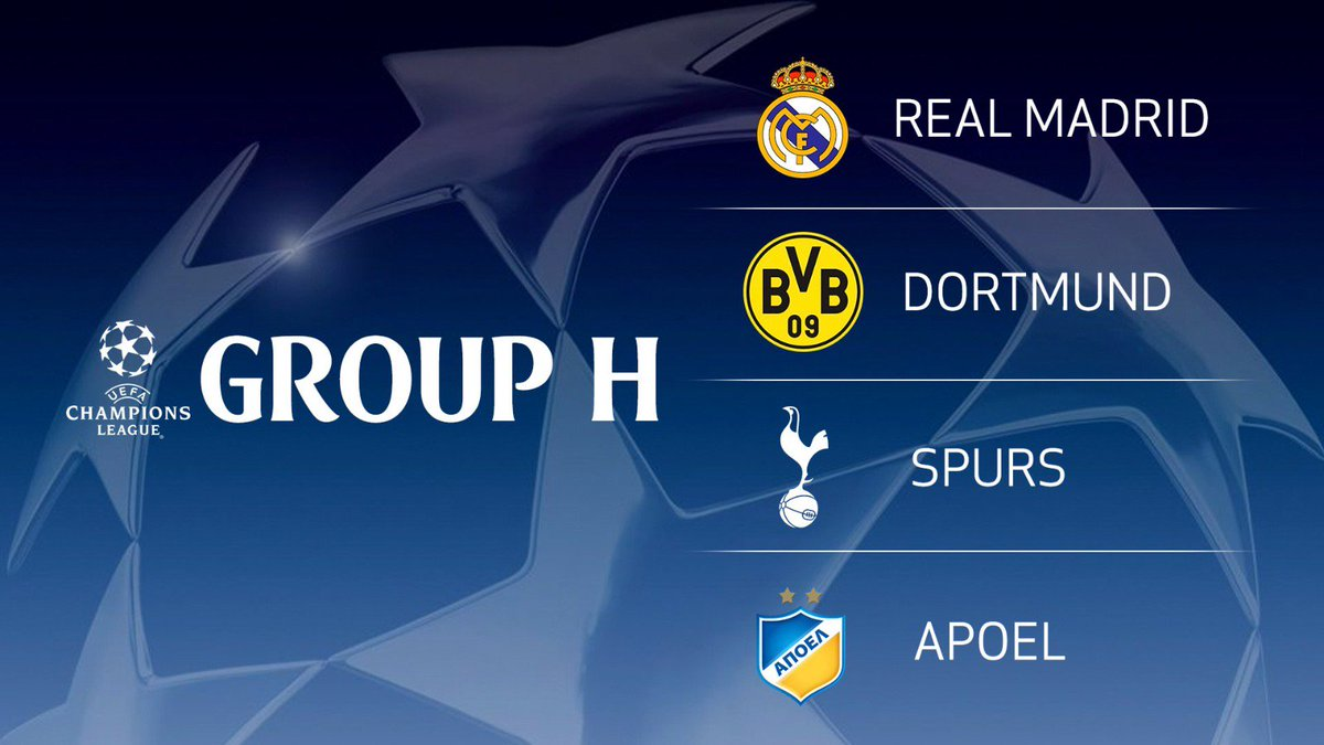 Champions League Group Stage Draw As It Happened