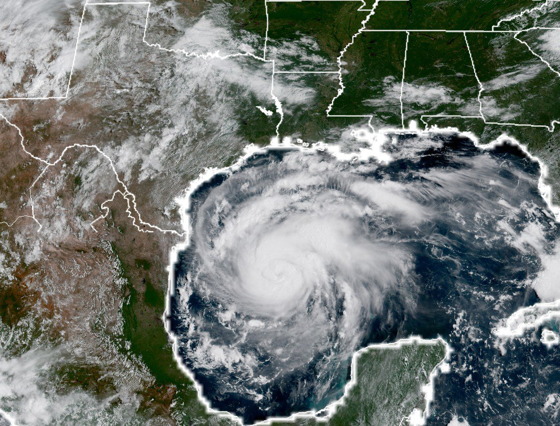 The GOES-16 imagery of Hurricane Harvey is just astounding. https://t.co/H0kWA1wScS