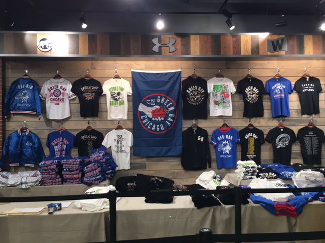 We'll also have a bunch of limited tour merch at The Cubs Store outside Wrigley before the show too. See you later! https://t.co/9j4snrdj7k