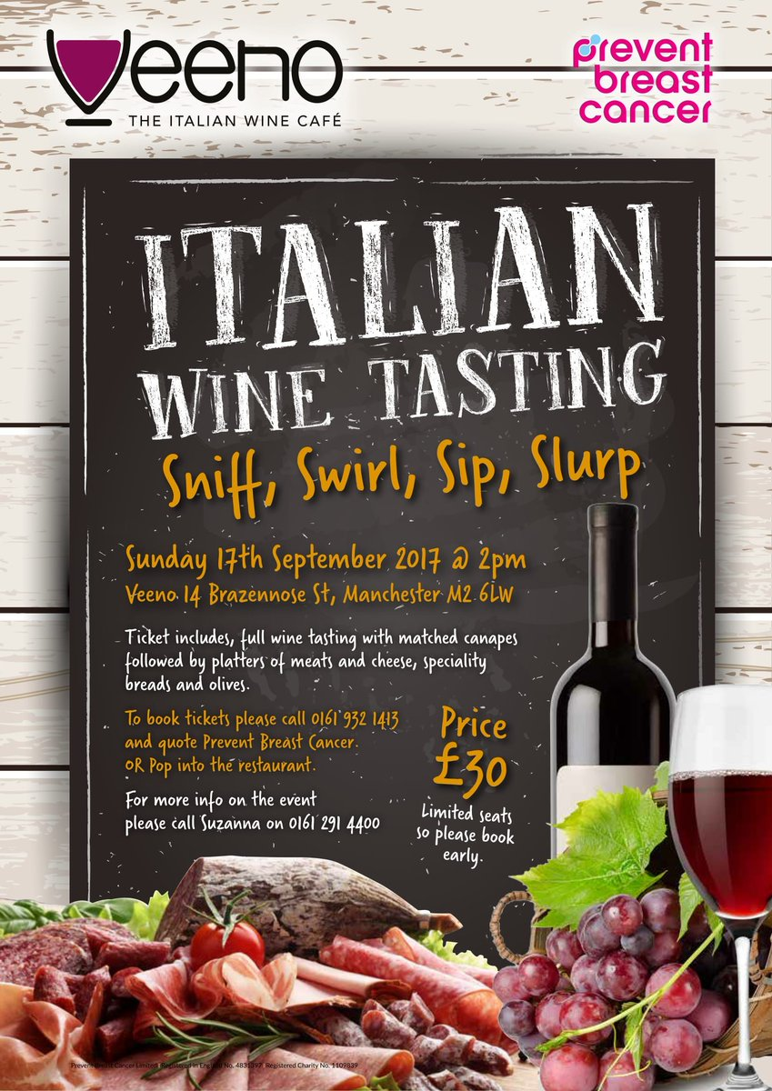 Preventbreastcancer on twitter do you love wine do you love food do you love food then come join us at veenouk manchester in aid of preventbreastcancer booknow manchesterhour httpst7k8r8zamvi forumfinder Image collections