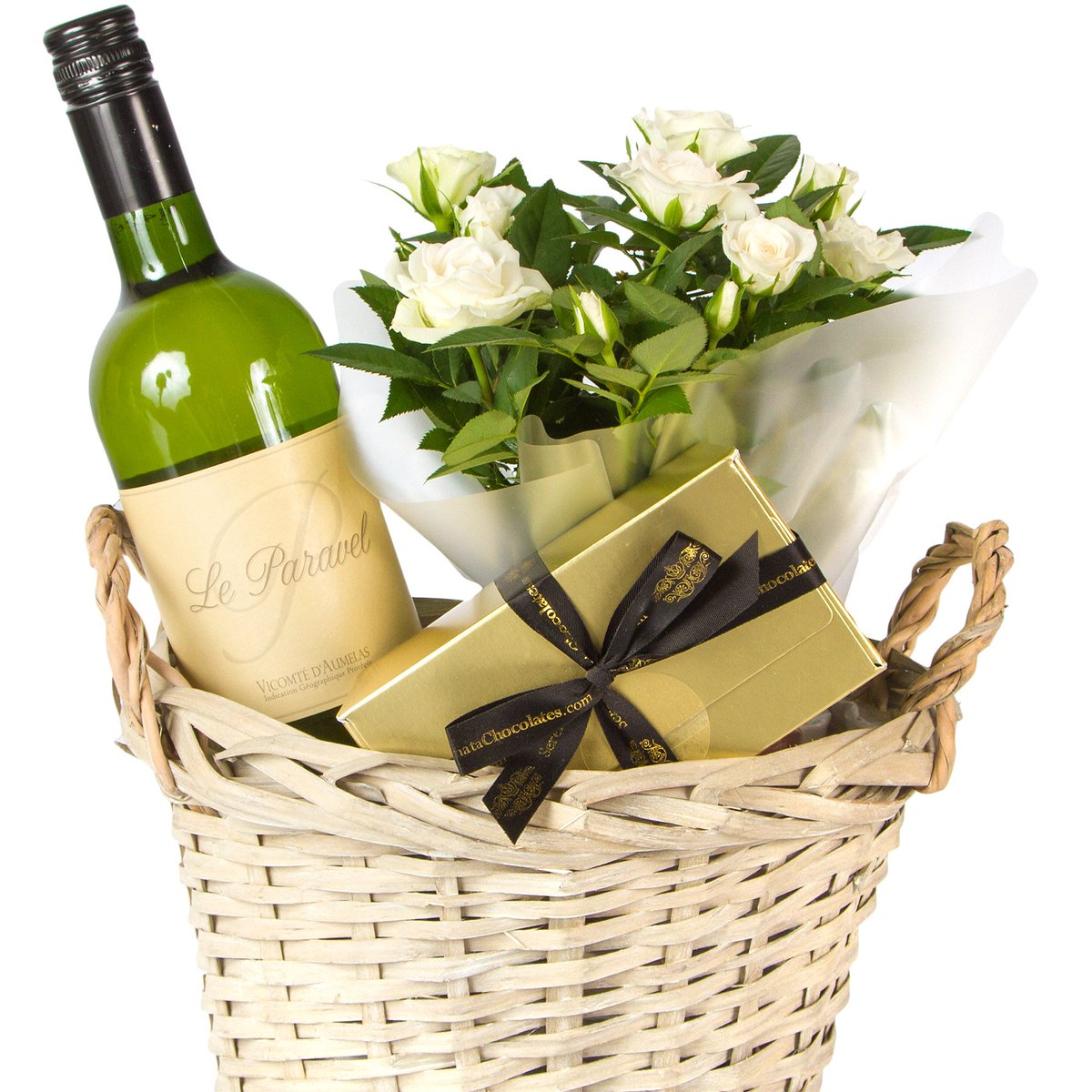 Struggling With A Birthday Gift Idea Choose Fool Proof Trio Of Wine Chocolates And Flowers