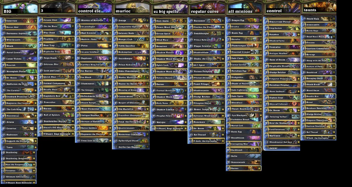 keaton gill on twitter beat lich king with all 9 classes in 2 hrs 39 mins decks aren t 100 optimized but they work