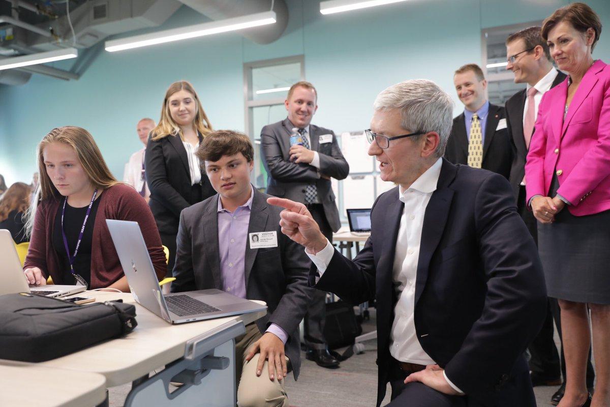 Thrilled by the response apple ceo tim cook said in a tweet that it - Waukeeapex Thanks For Showing Me Around Loved Seeing The Collaboration Among Students And Depth Of Learning At Your School Pic Twitter Com 5txirdzeao