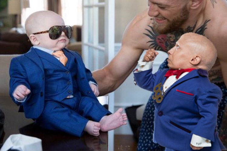 Me and @TheNotoriousMMA's son bout to have the fight of the century https://t.co/nDH0eFo0uA