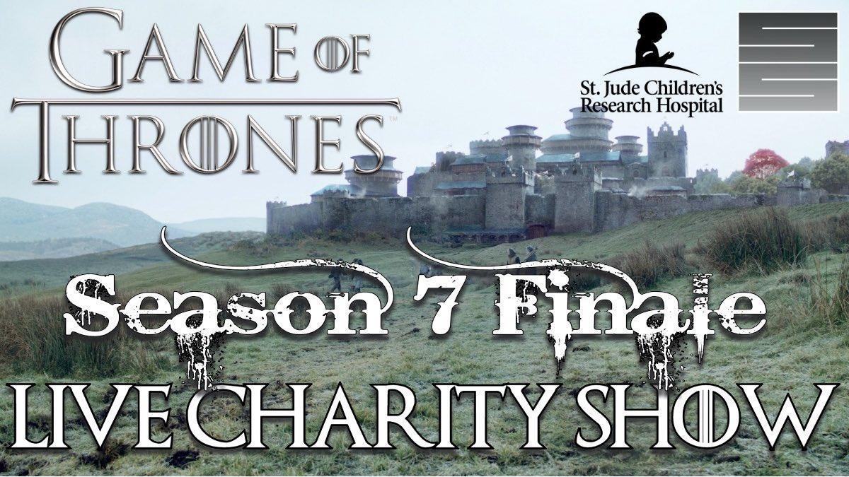 .@GameOfThrones #GoTS7 E7 Live Charity show supporting @StJude  https:// youtu.be/dRbQD33GaH8  &nbsp;   Sun. 10:30 EST! #GameOfThronesSeason7 #WinterIsHere <br>http://pic.twitter.com/iaImBzK0X8