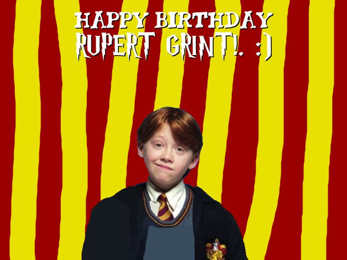Happy Birthday Rupert Grint!. :)