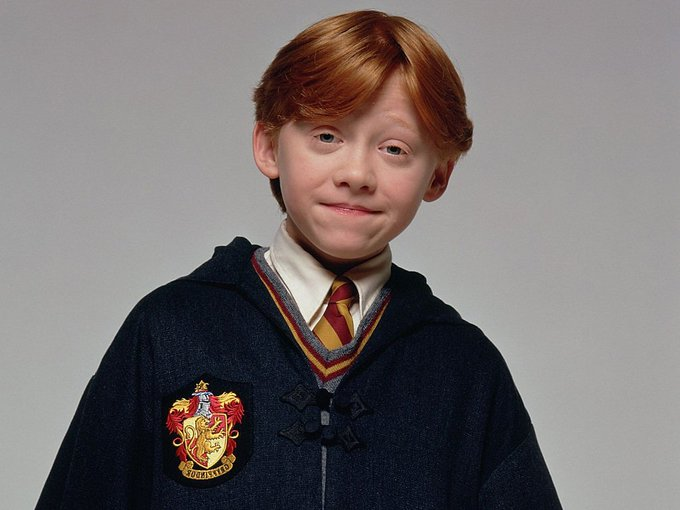 For this perfect Ron Weasley, happy birthday Rupert Grint.