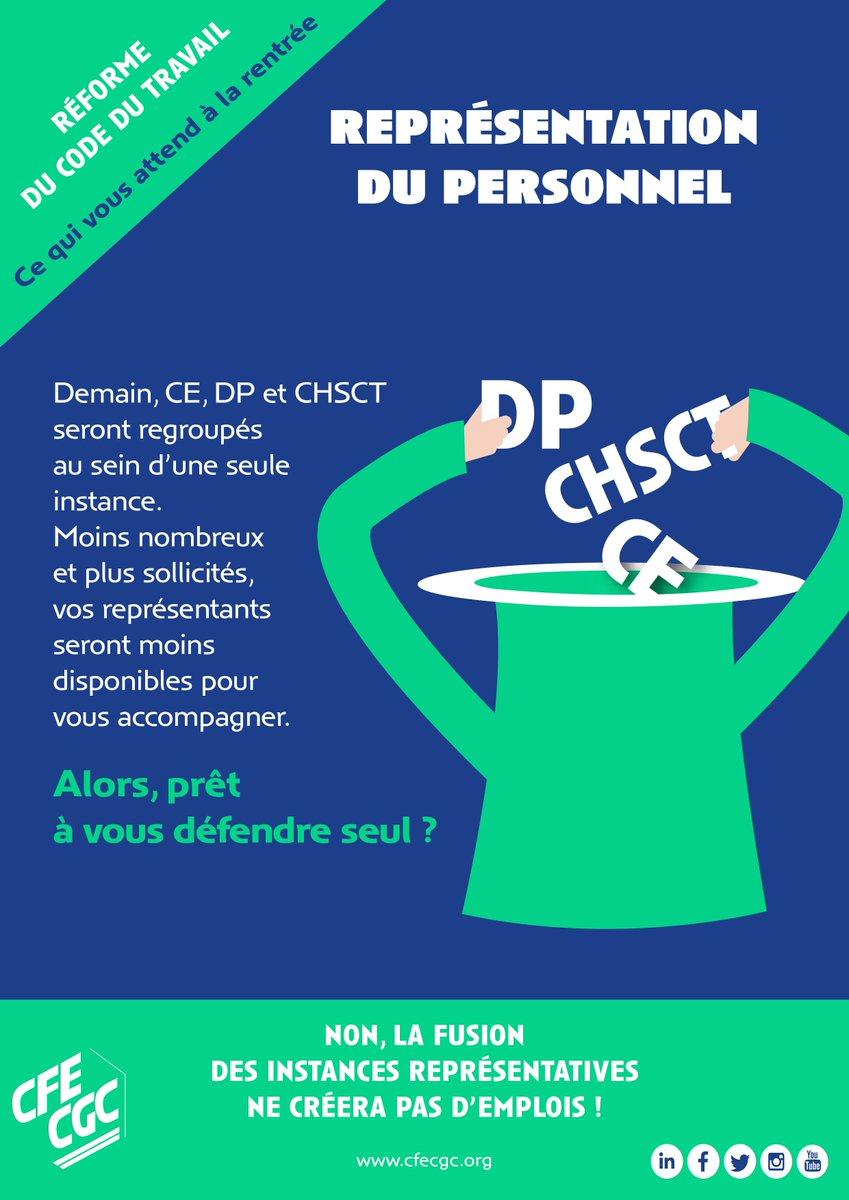 Cfe Cgc On Twitter Non La Fusion Des Instances Representatives Du