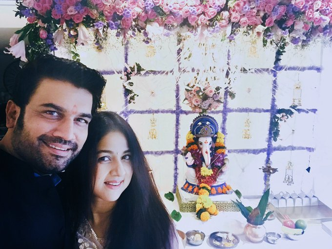 Ganapati Bappa Morya  ,mangalmurti morya ! Happy ganesh chaturthi 🙏🏼🙏🏼🙏🏼#GanapatiBappaMorya @keerti07 #ecofriendly #bappa #Happiness https://t.co/wLPNpQCFnM