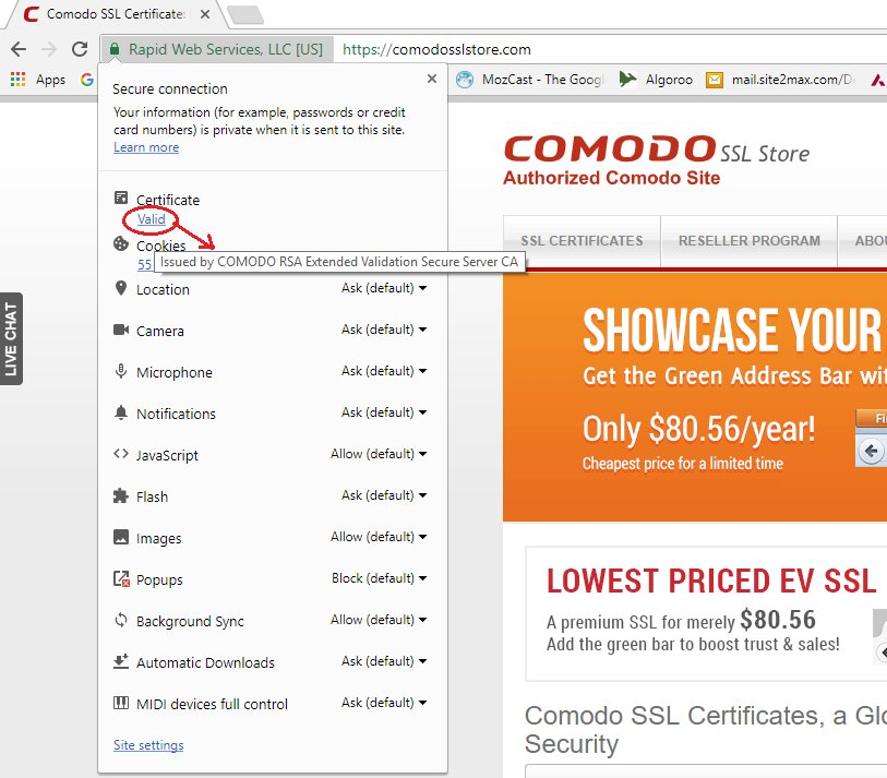 Comodosslstore On Twitter How To View Ssl Certificate Details In