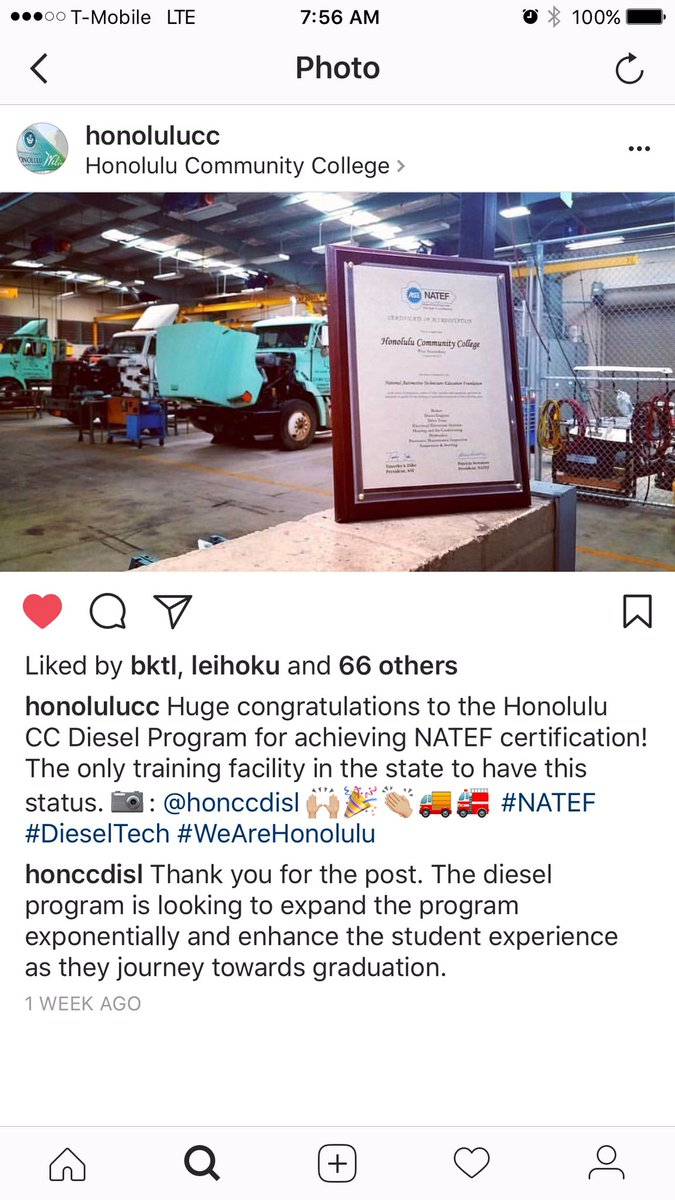 Honolulu Cc On Twitter Congrats Again To Honcc Diesel Program