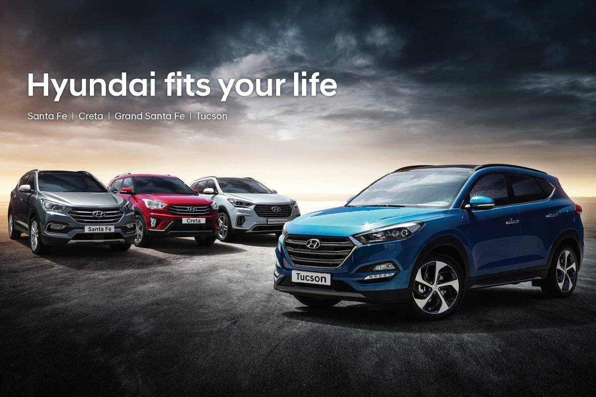 Hyundai S Dynamic Suv Line Up Is Here What Your Pick Tucson Santafe Creta Grandsantafe Find Out More Http Worldwide Pic Twitter