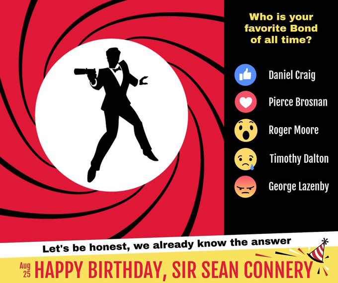 Happy Birthday to Sean Connery....so, who is your favourite bond?