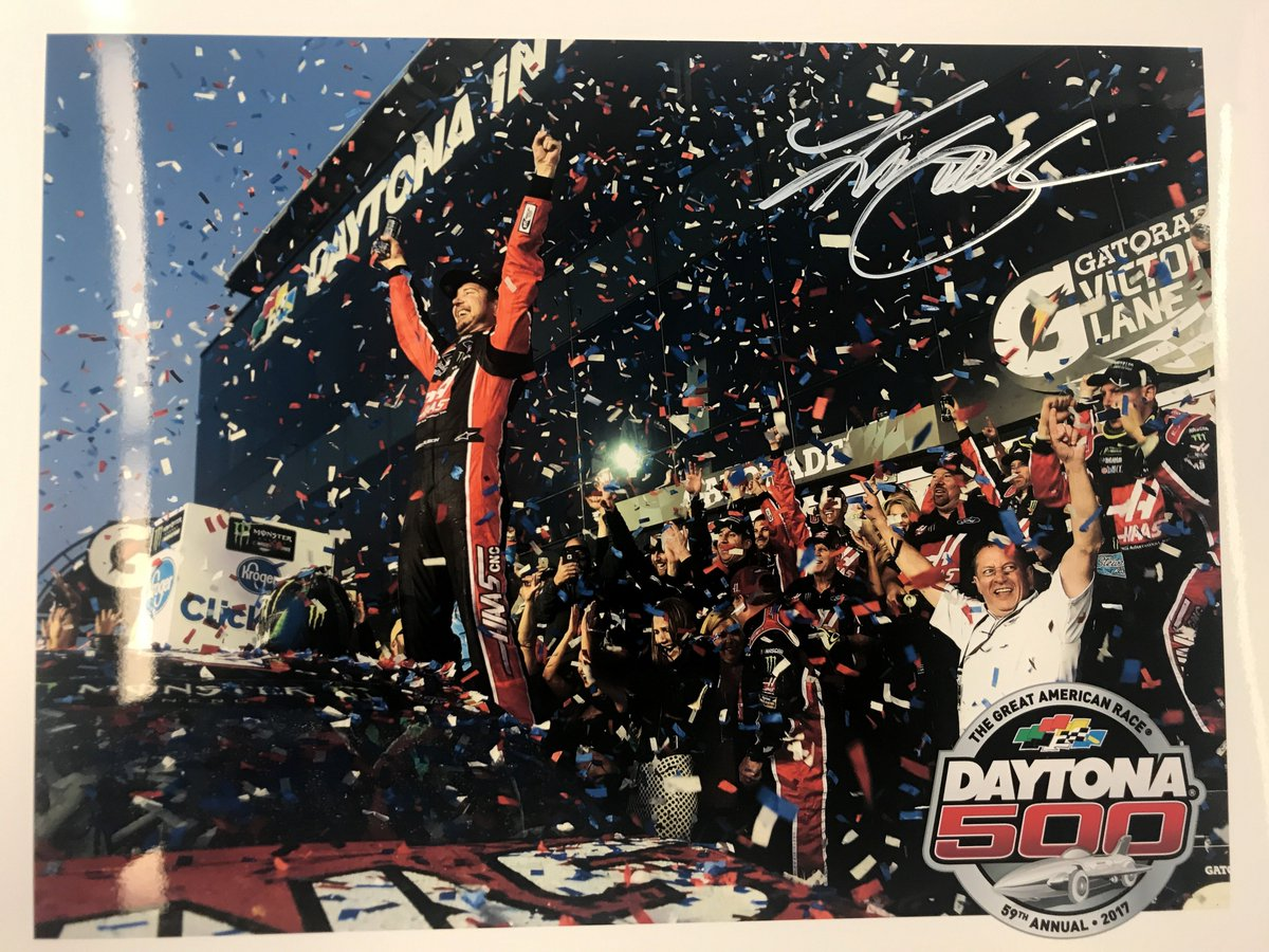 Six months ago @KurtBusch won the #DAYTONA500! RETWEET for your chance to win this signed photo! We'll pick a winner Mon. at 10 am ET!