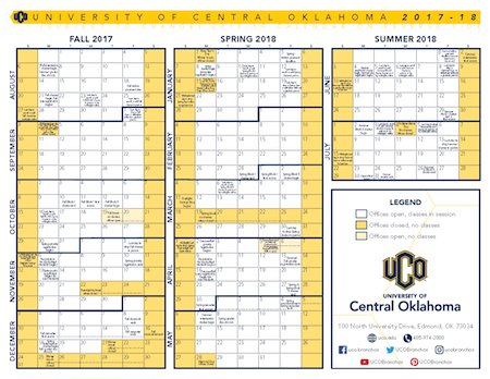 Uco Academic Calendar.Uco Bronchos On Twitter When S Fall Break When S The Next Day Off