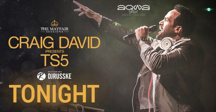 So this is happening tonight !! @CraigDavid is coming back to @AqwaMist for the @MayfairSessions https://t.co/1oznZRZbe5