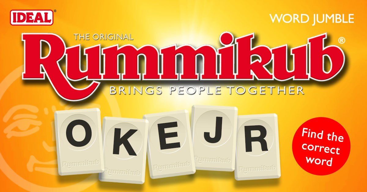 What's today's #RummikubWord jumble? #Rummikubpic.twitter.com/fZcmHcuucw