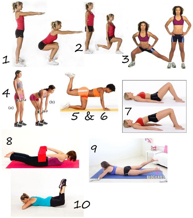 Упражнения для поп и бедер с картинками
