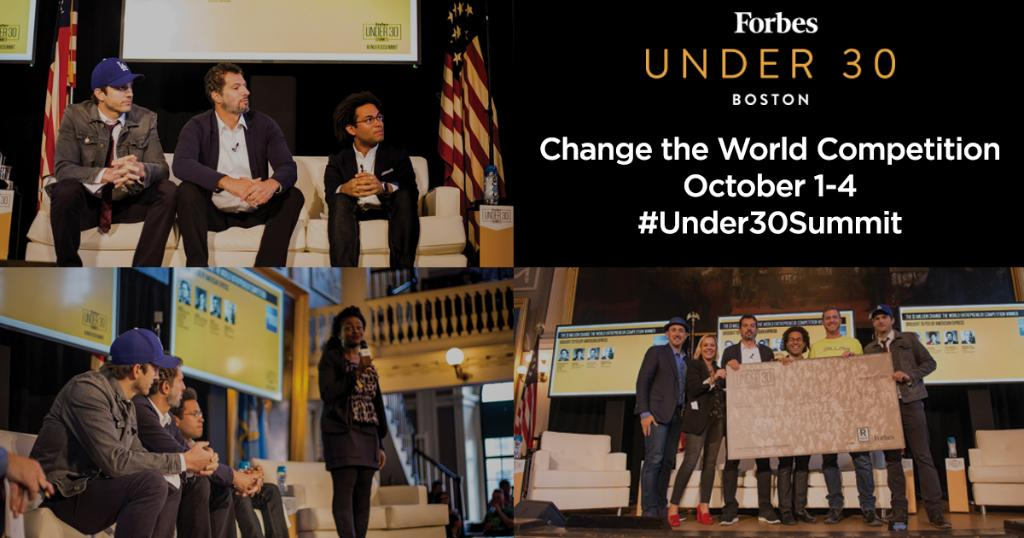 Reminder - you have until 9/1 to enter the #Under30Summit
