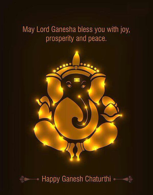 Happy Ganesh Charturthi to all of you who celebrate 🙏 Ganpati Bappa Moriya 🙏 #removerofobstacles #newbeginnings #devotion https://t.co/dkRN3oXsWD
