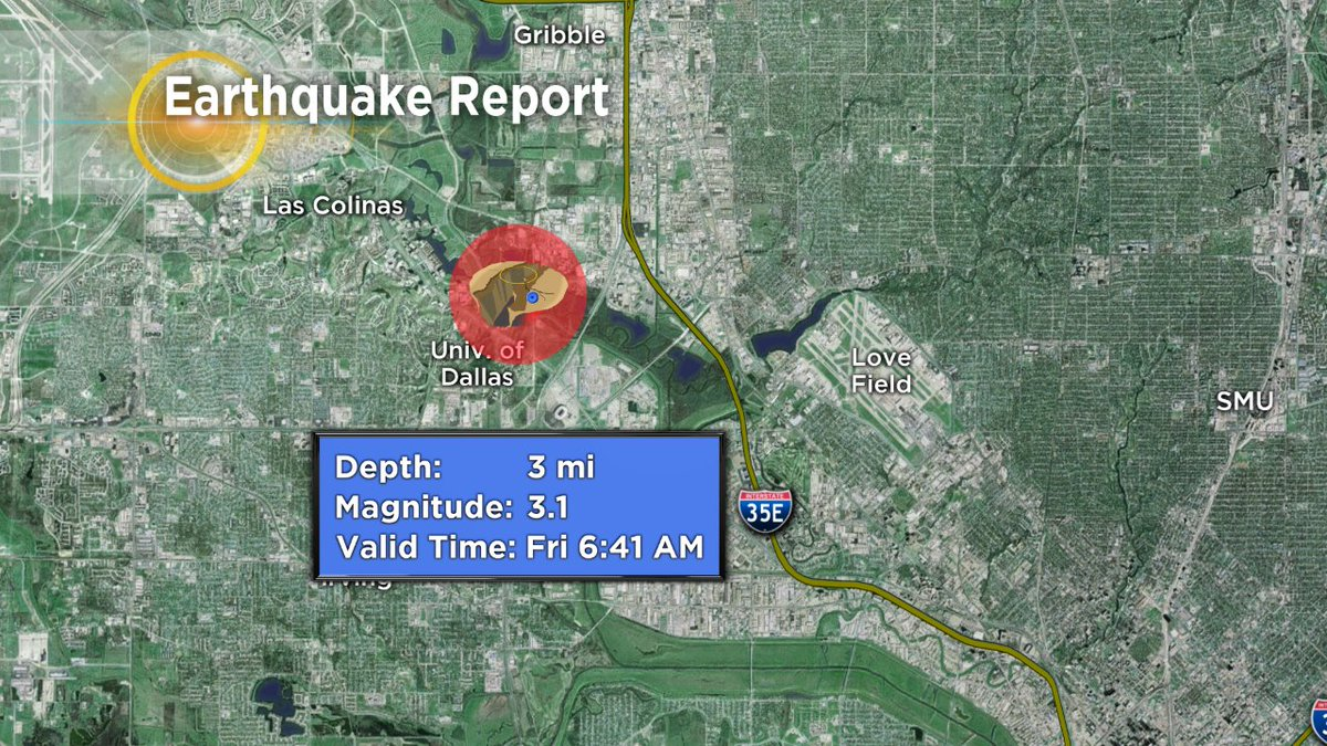 The #earthquake rattled near University of Dallas and just west of Love Field. https://t.co/8mAfRTSxiO