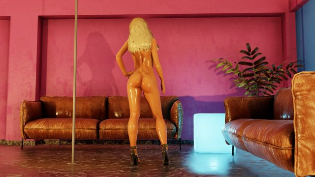 2 pic. Sneak peak of my video game launching this weekend. Here is the Booty shot the reveal will be