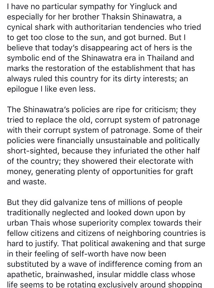 Eloquent and excoriating assessment of where Thailand is by an academic friend who teaches in the country https://t.co/oQvsLvWVYd