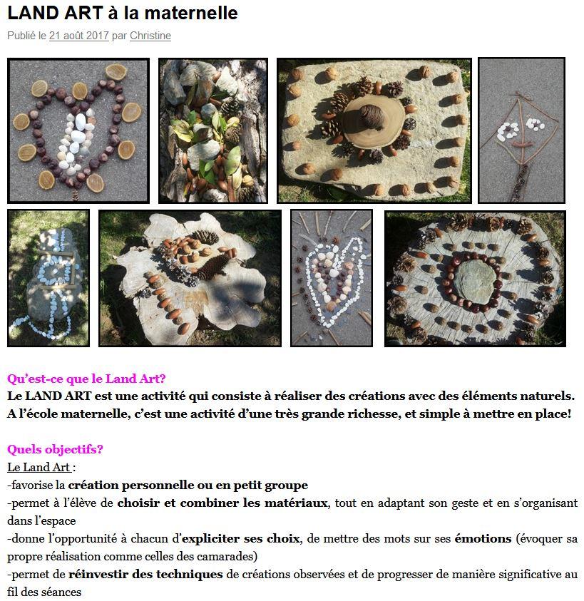 """Résultat de recherche d'images pour """"CONTINUITE PEDAGOGIQUE GS land art"""""""