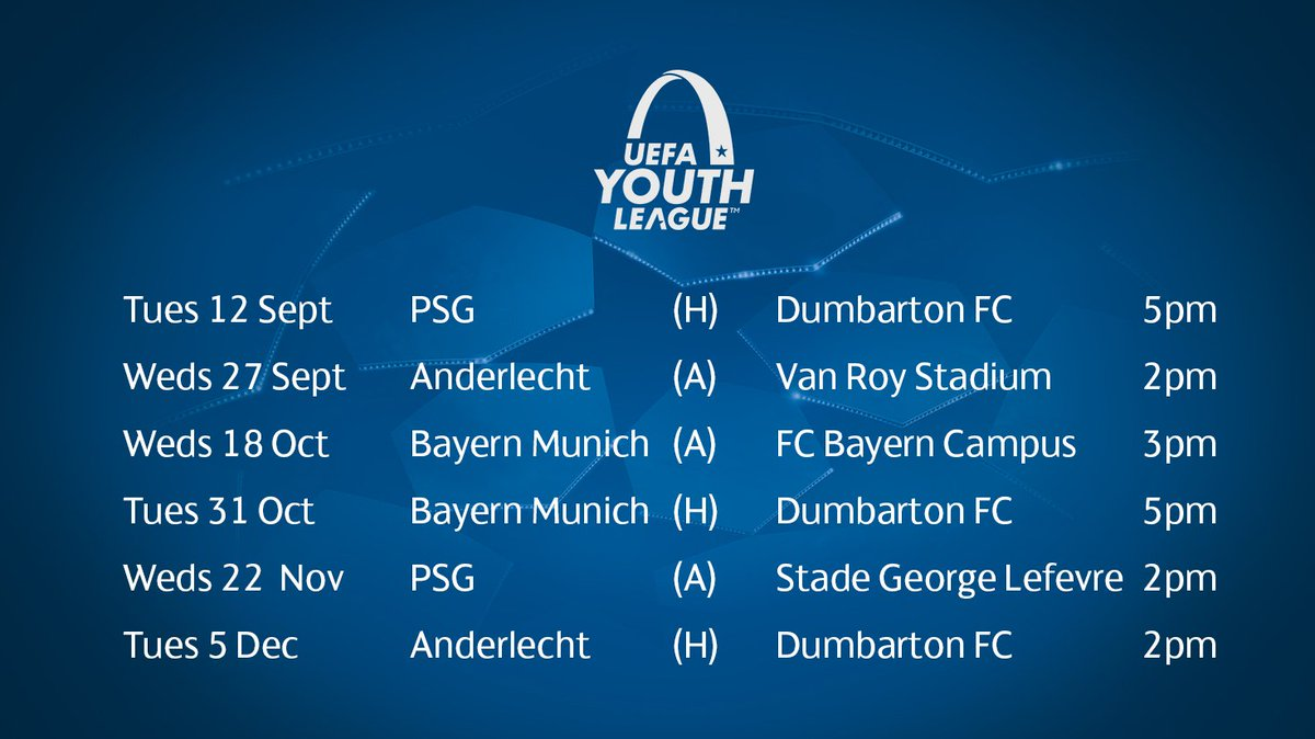 Celtic Football Club On Twitter Updated 2017 18 UEFAYouthLeague Fixtures For CelticFC All Kick Off Times Are Park Time Home Games At