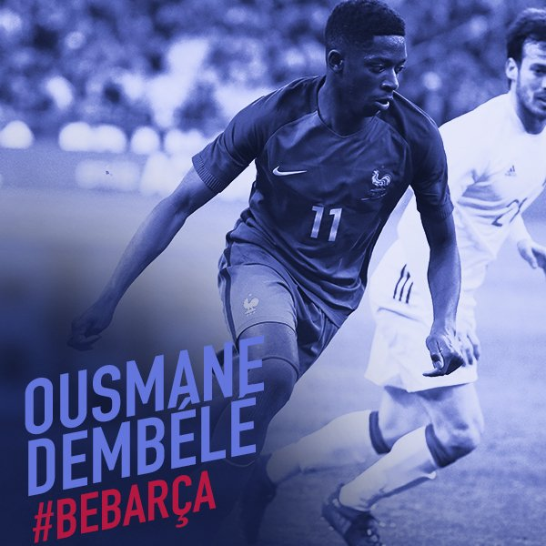 ⚠️ All the details about the new @FCBarcelona player @Dembouz  👉 https://t.co/qxuj6wMf8O 👈 🔵🔴 #BeBarça