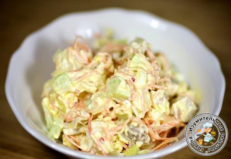 Рецепт салата скумбрия с овощами на зиму