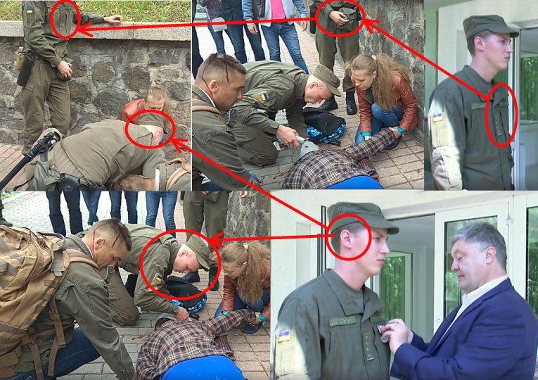 Порошенко наградил медалью нацгвардейца Добровольского, оказавшего первую медпомощь пострадавшей от взрыва на ул. Грушевского - Цензор.НЕТ 9467