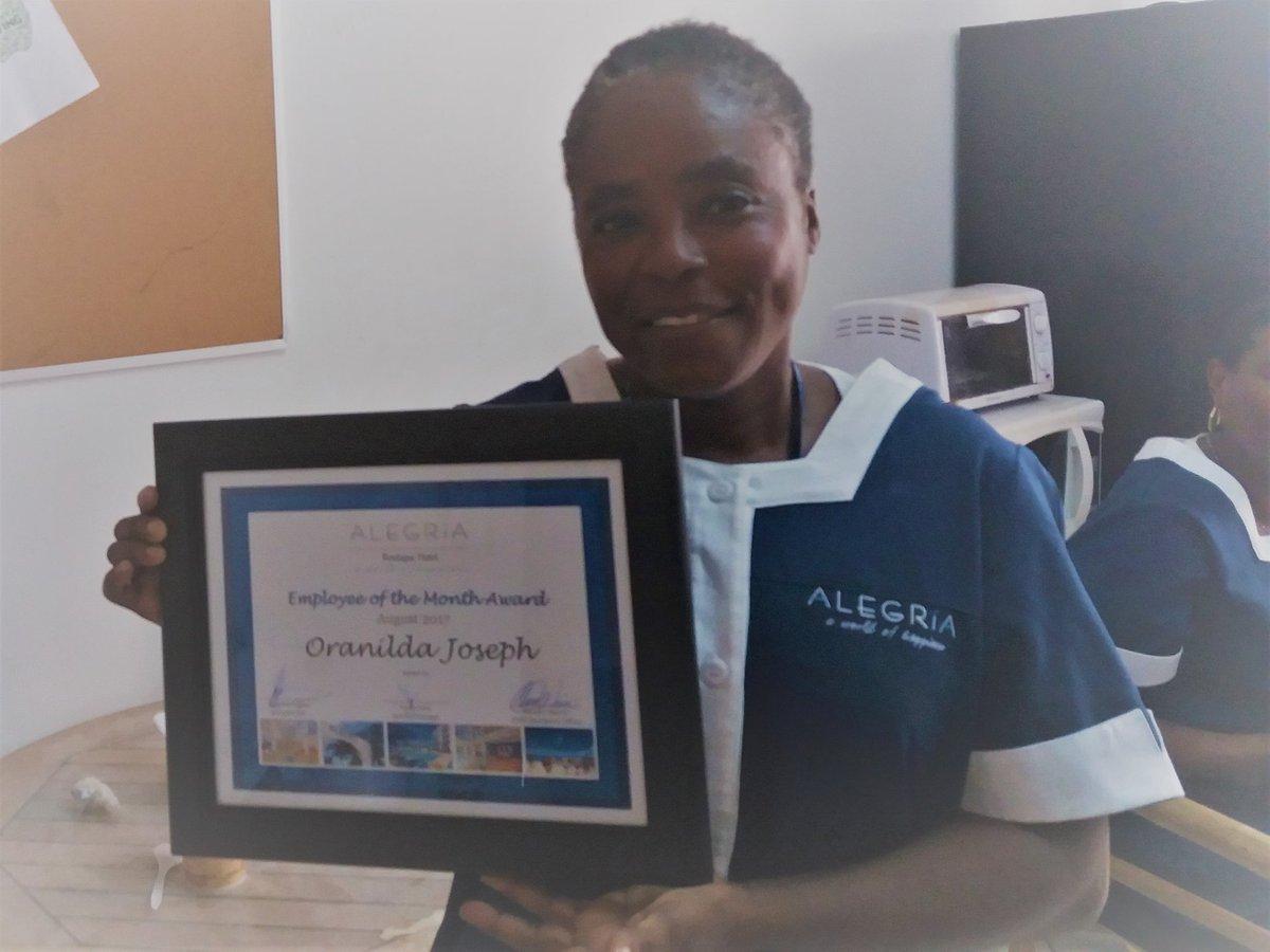 Oranilda Thank you for your dedicated service! #employeeofthemonth #alegriaboutiquehotel #sxm #sintmaarten #hardworker #august