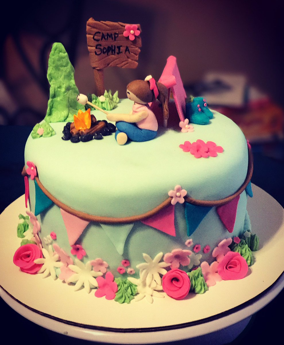 Awe Inspiring Cupcakes N More On Twitter Birthday Cake Camping Glampingtent Funny Birthday Cards Online Alyptdamsfinfo