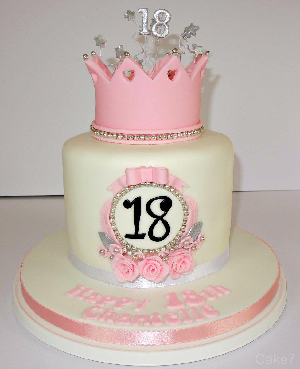 Superb Cake7 On Twitter Pink Crown Themed Victoria Sponge Birthday Funny Birthday Cards Online Kookostrdamsfinfo