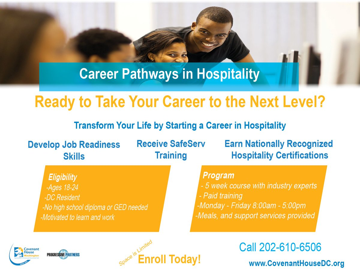 Covenant house dc on twitter looking to start a career register register for chws career pathways in hospitality course and develop your skills in hospitality cphospitality httpst3y0nbindqd xflitez Choice Image
